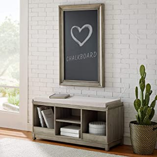 Classic Brands Sam & Jack Kids Solid Wood Bench and 4 Cube Cubby, Antique White