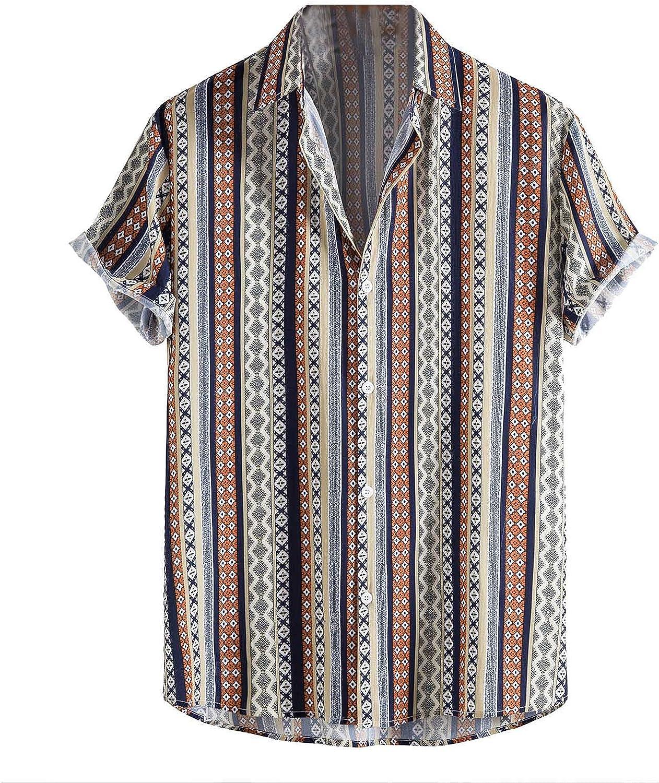 Men's Shirts Hawaiian Special Campaign Short Sleeve Safety and trust Shirt Casual Summer Beach Pri