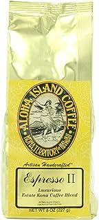 Aloha Island Coffee Company Espresso II, Luxurious Estate Kona Coffee Blend, 8-Ounce Bag