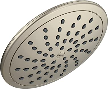 Moen 6345BN Collection 8-Inch Fixed Single Function Round Rainshower Showerhead, Brushed Nickel