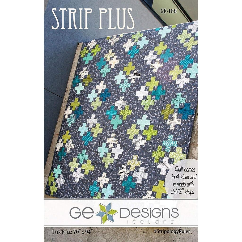 Strip Plus Quilt Pattern by GE Quilt Designs