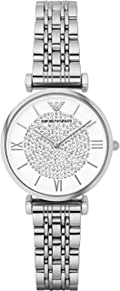Emporio Armani Casual Watch For Women(Standard)- Stainless Steel, Analog - Ar1925, Silver Band
