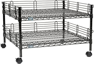 Nexel Multi-Purpose 2-Wire Shelf Cart, Black Finish, 30
