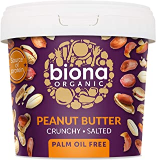 Biona Organic Peanut Butter Crunchy with Sea Salt, 1.0 g