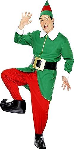 Smiffys, Herren Elfen Kostüm, Jacke, Hose, Mütze, Gürtel und überschuhe, Größe  M, 30741