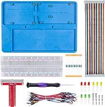 SunFounder Raspberry Pi RAB Holder Breadboard Kit with 830 Points solderless Circuit Board Raspberry Pi Holder for Arduino Uno R3, Mega 2560 & Raspberry Pi 3B+, 3 Model B, 2 Model B and 1 Model B+