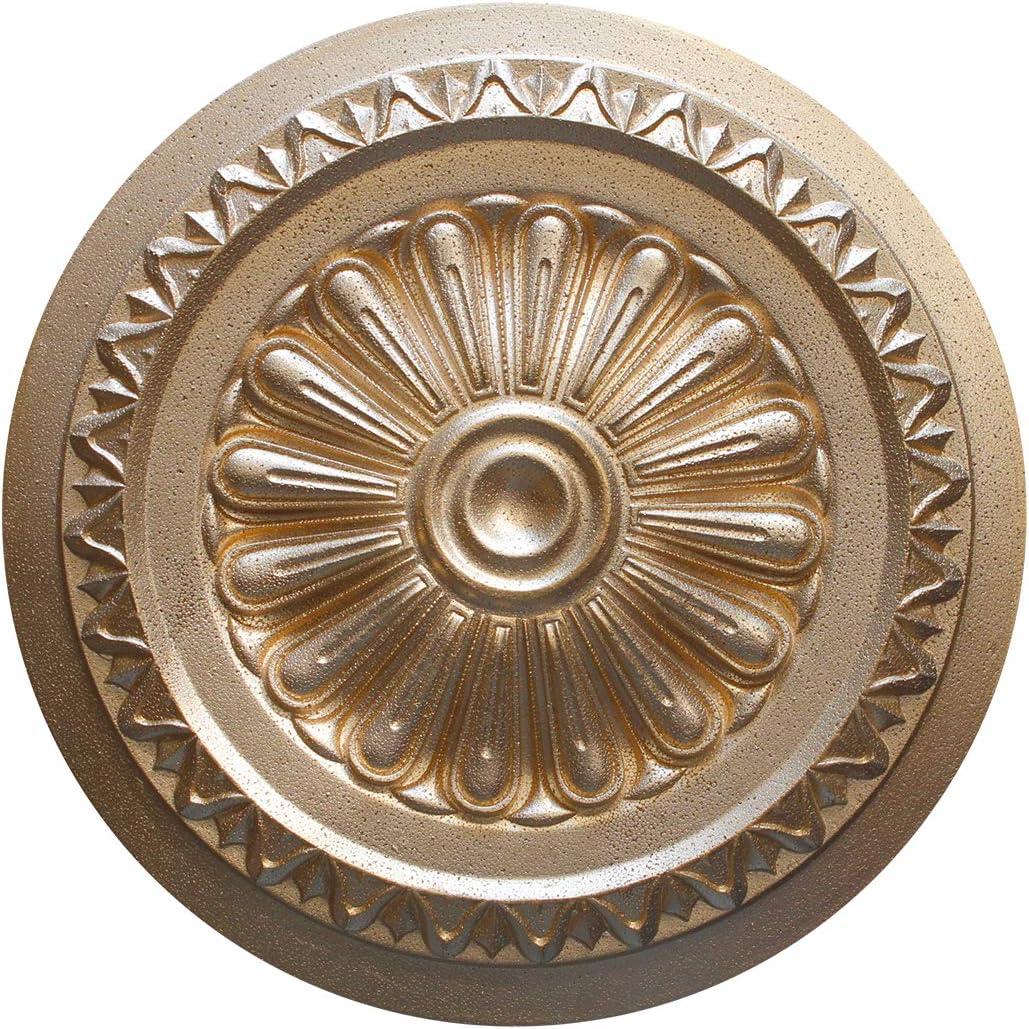 1 Rosette Polystyrene Ceiling Rose Decorative /Ø34cm R-15 Super Gold