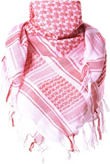 100% Cotton Keffiyeh Tactical Desert Scarf Military Arab Scarf Wrap Shemagh