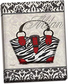 PosterArtNow Canvas Classy Purse I Italy Animal Fashion Shopping Trendy Zebra Wall Art Cute Quality 8x10