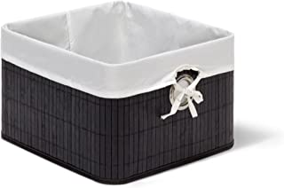 Relaxdays 10020506 Corbeille Panier de rangement Housse amovible poignée Boîte de stockage étagère armoire H x l x P 20 x ...
