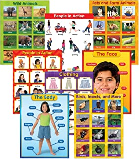 Learning Resources ReMARKable Smart Talk Charts Set 3 Animals and People