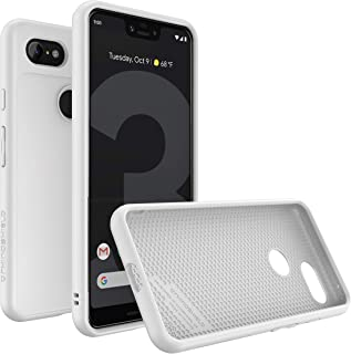 RhinoShield Case for Google Pixel 3 XL [SolidSuit] | Shock Absorbent Slim Design Protective Cover with Premium Matte Finish [3.5M/11ft Drop Protection] - Classic White