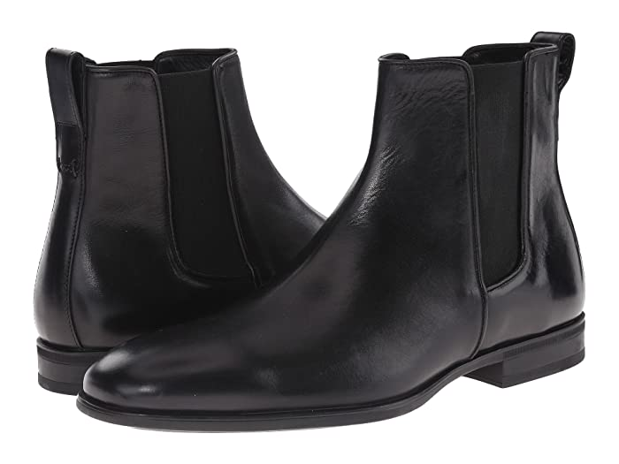 Aquatalia  Adrian (Black Dress Calf) Mens Pull-on Boots