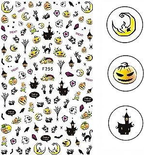 Elite99 3D Halloween Nail Decals Skull Pumpkin Ghost Owl Bat Diy Party 7Ml Nail Sticker
