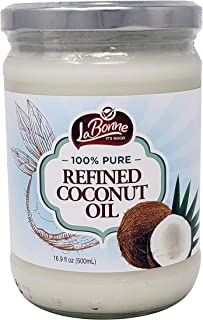 La Bonne Refined Coconut Oil, 16.9 Fl Oz Glass Jar (Single)