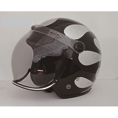 ヒートグループ Brighton Premier Flake ハンドペイントジェットヘルメット フレイムシルバーブラック MPFSVBK 57cm~60cm 排気量無制限SG規格