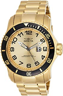 Invicta Pro Diver Men's Gold Dial Stainless Steel Band Watch - 15350