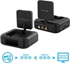 Nyrius 5.8GHz 4 Channel Wireless Video & Audio Sender Transmitter & Receiver with IR Remote Extender for Streaming Cable, Satellite, DVD to TV Wirelessly (NY-GS10)