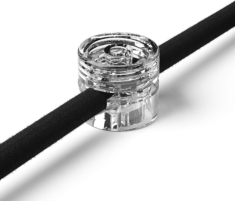 1x Stück Zweiteilige Affenschaukel Für Textilkabel Aufputz Kabelhalter Für Lampe Transparent Beleuchtung