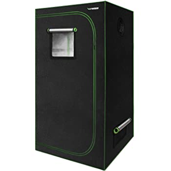 """VIVOSUN 32""""x32""""x64"""" Mylar Hydroponic Grow Tent with Observation Window and Floor Tray for Indoor Plant Growing"""