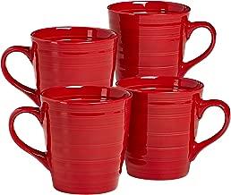 overandback 816309 Circo Red Mugs, Set of 4,