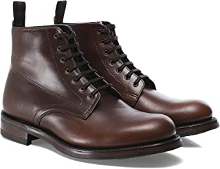 Loake Hebden Brown Chromexcel Leather Mens Plain Front Derby Boots