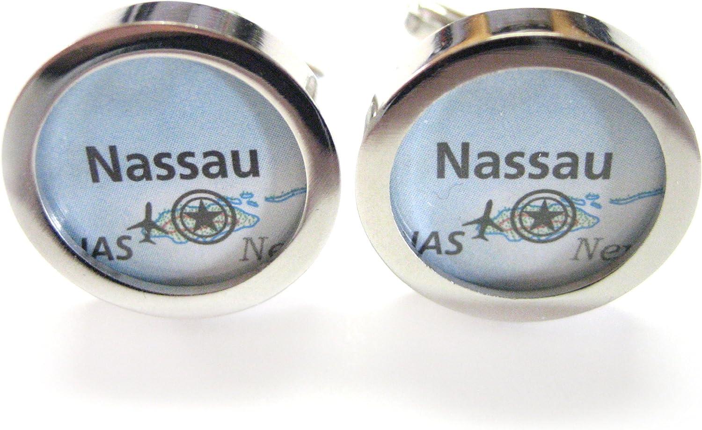 Nassau Bahamas Map Cufflinks