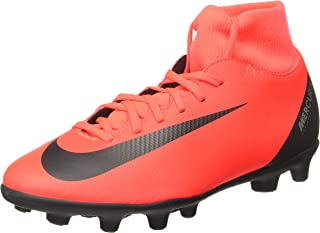 Nike Men's Superfly 6 Club CR7 MG Bright Crimson/Black-Chrome Football Shoes (AJ3545-600)