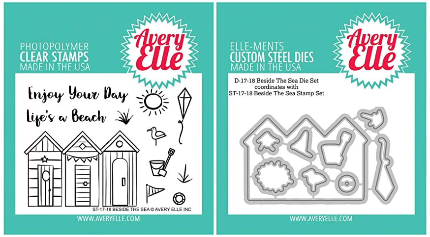 Avery Elle - Beside the Sea - Clear Stamps and Dies Set