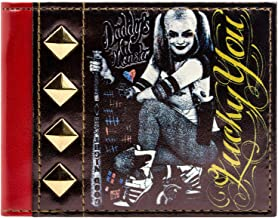 DC Comics Harley Quinn Lucky You Black ID & Card Bi-Fold Wallet