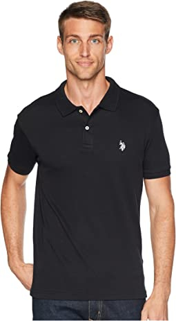 Slim Fit Interlock Solid Polo Shirt