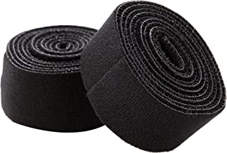 Juvale Nylon Cable Manager Tape - 2-Roll One-Wrap Strap, Self Gripping Hook and Loop Strap, Reusable Tie Roll Cord Organizer, Black, 1.5 Inches Wide, 5 Feet Length