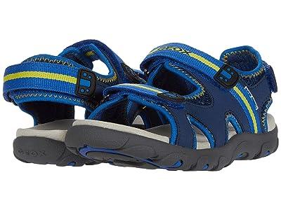 Geox Kids Sandal Strada 19 (Little Kid/Big Kid) (Blue/Yellow) Boy