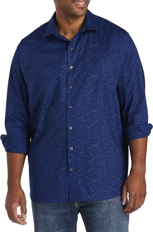 DXL Synrgy Big and Tall Blueprint Stretch Sport Shirt, Blueprint