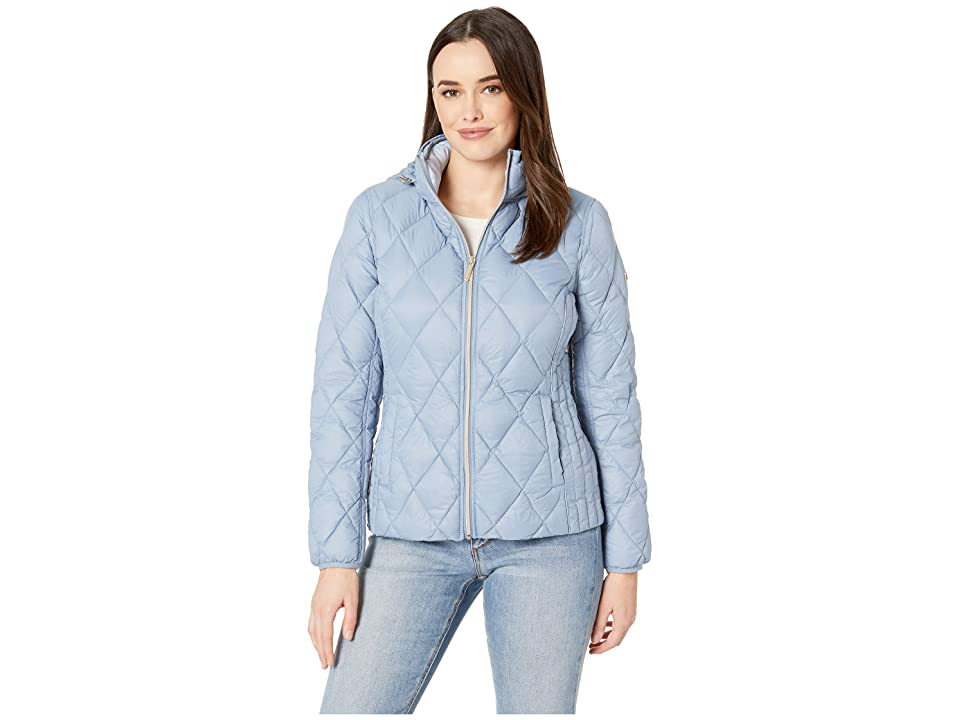 MICHAEL Michael Kors Quilted Nylon Packable Down Jacket M823965M (Chambray) Women