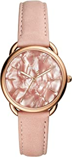 Fossil Tailor Women's Three-Hand Blush Dial Leather Watch - ES4419