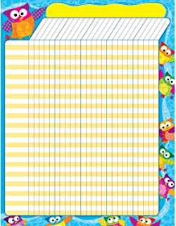 Trend Enterprises Owl-Stars Large Incentive Charts, 11 L x 22 W in