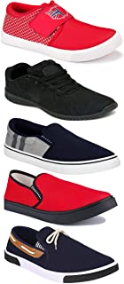 WORLD WEAR FOOTWEAR Sports Running Shoes/Casual/Sneakers/Loafers Shoes for Men Multicolor (Combo-(5)-1219-1221-1140-417-771)
