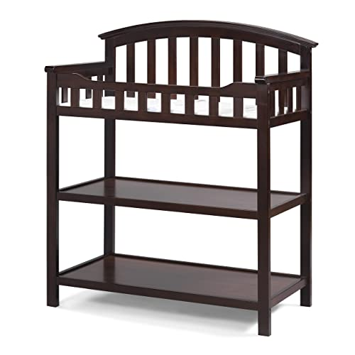 Graco Changing Table with Water-Resistant Change Pad and Safety Strap, Espresso, Multi Brown Baby Cribs Table: Amazon.com