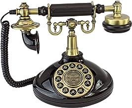 Design Toscano PM1920 Antique Brittany Neophone 1929 Rotary Corded Retro Phone - Vintage Decorative Telephones, Black