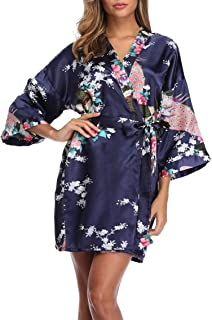 satin kimono floral