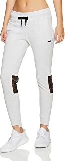 CALVIN KLEIN Women's Flat Back Jersey Track Pant w/Mesh Inserts and Stepped Hem