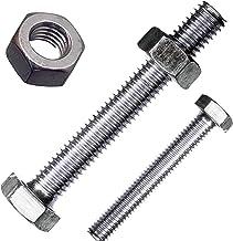 DIN 933 Sechskantschrauben Edelstahl A2 - Sechskant-Schrauben V2A M6x18 - 10 St/ück Maschinenschrauben mit Vollgewinde D/´s Items/® Gewindeschrauben