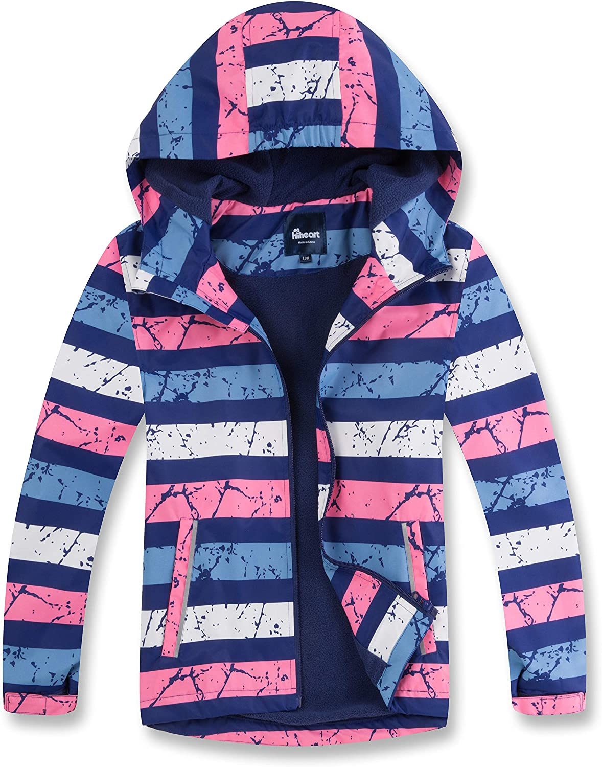 Hiheart Boys At the price Girls Fleece Lined Award-winning store Outdoo Hooded Jackets Waterproof