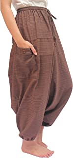 ChiangmaiThaiShop 100% Cotton Baggy Boho Aladin Yoga Harem Pants