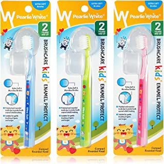 Pearlie White Triple Pack - BrushCare Enamel Protect KIDS Extra Soft Toothbrush,
