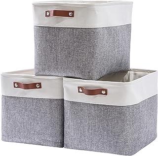MANGATA Boîte de Rangement en Tissu lot de 3, 33 x 38 x 33 cm Panier de rangement pour étagères Kallax, Armoires