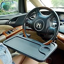TRUE LINE Automotive TrueLine Portable Steering Wheel Table Attachment For Eating Laptop ipad Desk (GRAY)