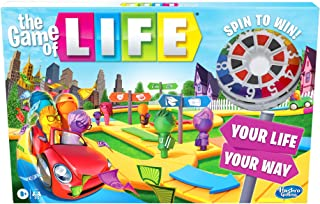 Hasbro Gaming The Game of Life Game, Family Board Game for 2-4 Players, Indoor Game for Kids Ages 8 and Up, Pegs Come in 6...