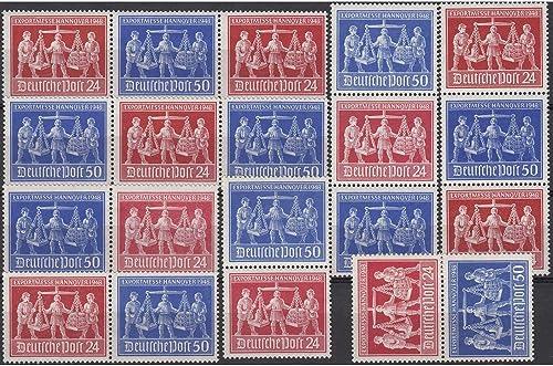Goldhahn Alliierte Besetzung Zusammendrucke WZd1-4+SZd1-4 postfrisch  Exportmesse Briefmarken für Sammler